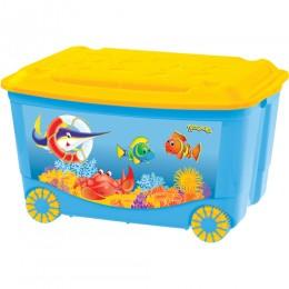 Ящик для игрушек ПЛАСТИШКА на колесах