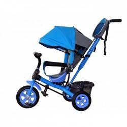 Детский велосипед с ручкой GalaXy Виват 1 голубой