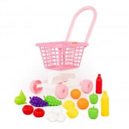 """Тележка """"Supermarket"""" №1 (розовая) + набор продуктов"""