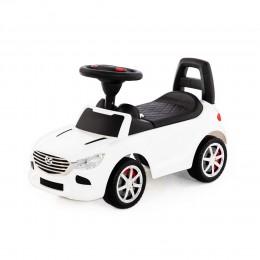 """Каталка-автомобиль """"SuperCar"""" №4 со звуковым сигналом (белая)"""