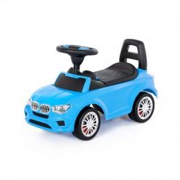 """Каталка-автомобиль """"SuperCar"""" №5 со звуковым сигналом (голубая)"""