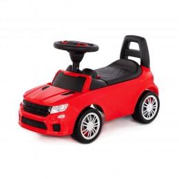"""Каталка-автомобиль """"SuperCar"""" №6 со звуковым сигналом (красная)"""