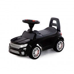 """Каталка-автомобиль """"SuperCar"""" №6 со звуковым сигналом (чёрная)"""