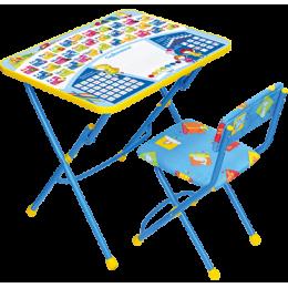 Комплект мебели Ника ку1 Первоклашка на синем фоне