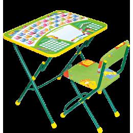 Комплект мебели Ника ку1 Первоклашка на зеленом фоне